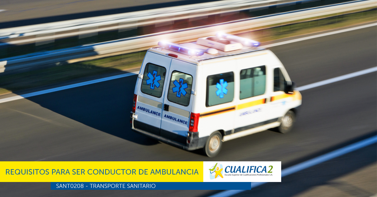 requisitos conductor de ambulancia 2017