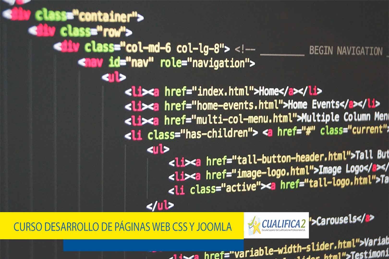 curso desarrollo de paginas web css y joomla