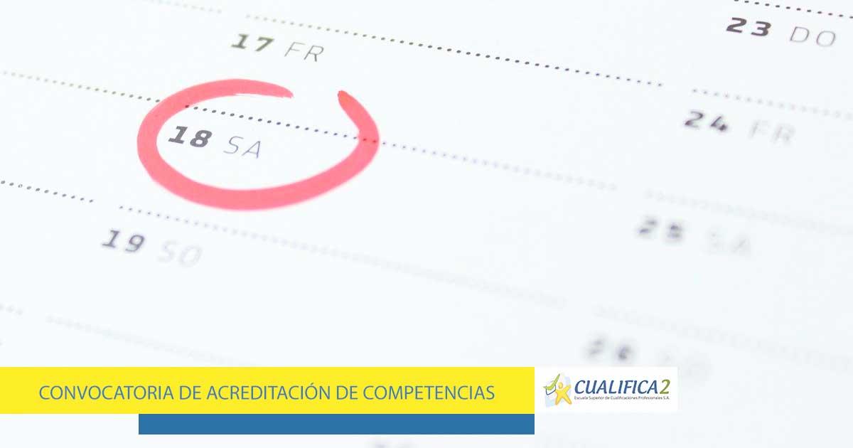 Fechas de la convocatoria de acreditación de competencias en Andalucía
